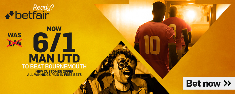 BETFAIR MANCHESTER UNITED 6/1