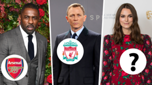 Hollywood football fans Keira Knightley Idris Elba Daniel Craig