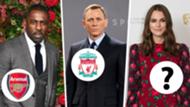 Hollywood football fans Keira Knightley Idris Elba Daniel Craig