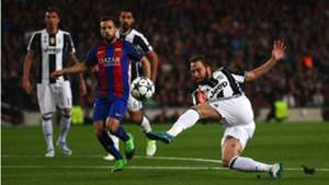 Gonzalo Higuain Jordi Alba Barcelona Juventus UCL 19042017