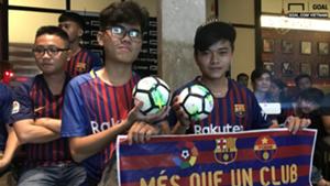 Barcelona fans in Vietnam