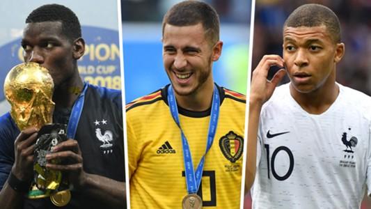 Paul Pogba Eden Hazard Kylian Mbappe GFX