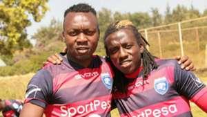 AFC Leopards Allan Kateregga and Yakub Ramadhan