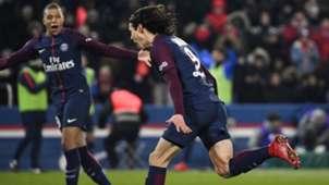 Edinson Cavani Kylian Mbappe PSG Marseille Ligue 1 25022018