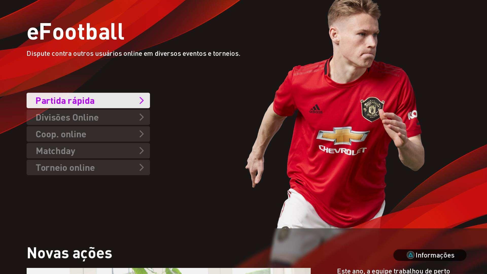 Filtro de força de força de time no modo Divisões Online - eFootball PES 2020