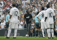 Usain Bolt Real Madrid Santiago Bernabeu