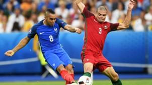 Dimitri Payet Pepe Portugal France UEFA Euro 10072016