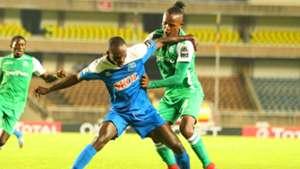 Gabriel Mugabo of Rayon Sports v Francis Kahata of Gor Mahia.