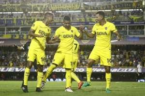 Los colombianos de Boca: Fabra, Barrios y Cardona
