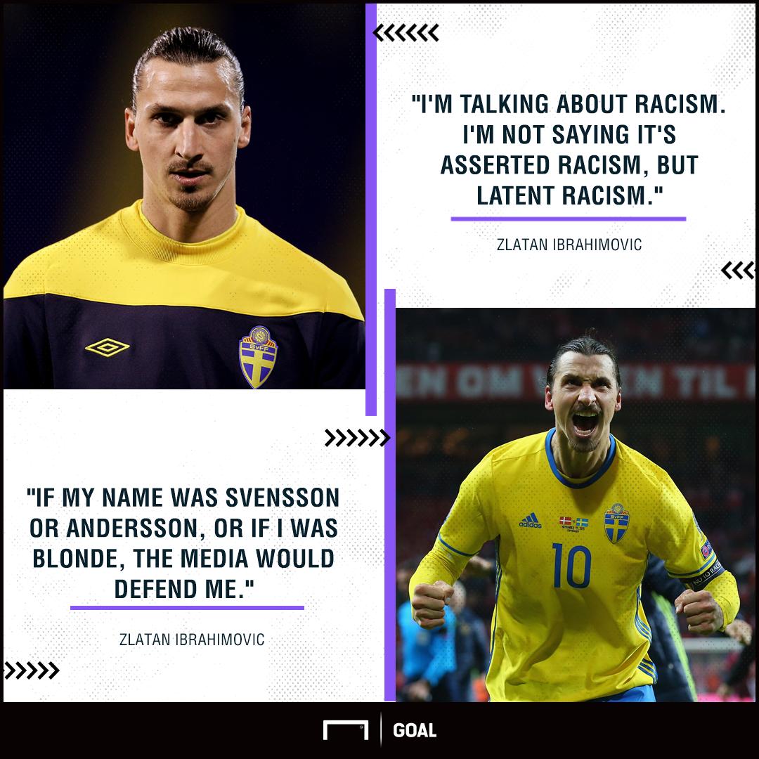 Ibrahimovic blasts Swedish media for 'undercover racism'