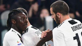 Moise Kean Leonardo Bonucci Juventus Serie A 2019