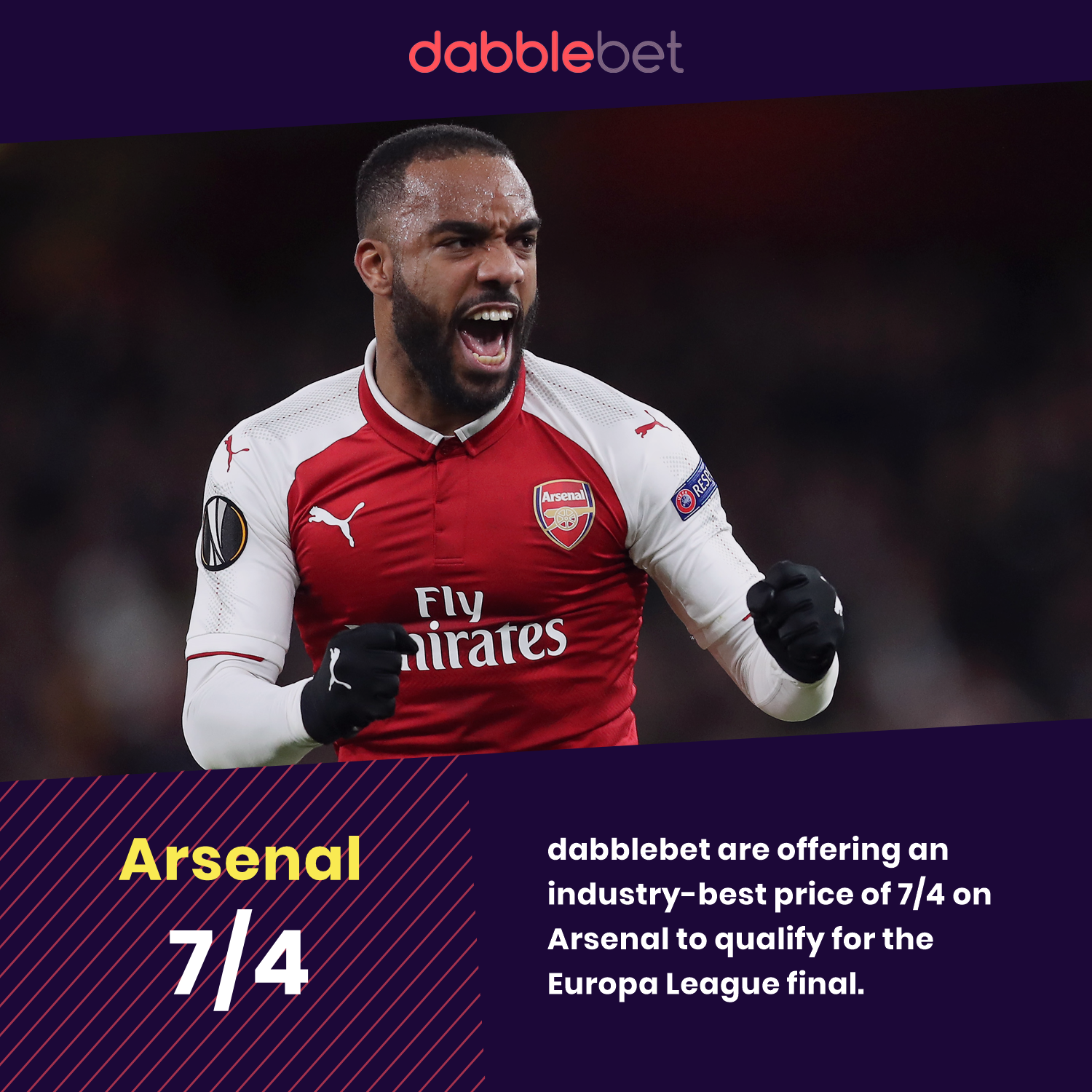 dabblebet enhanced odds Arsenal to qualify