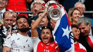 Alexis Sánchez Arsenal FA Cup champions 270517