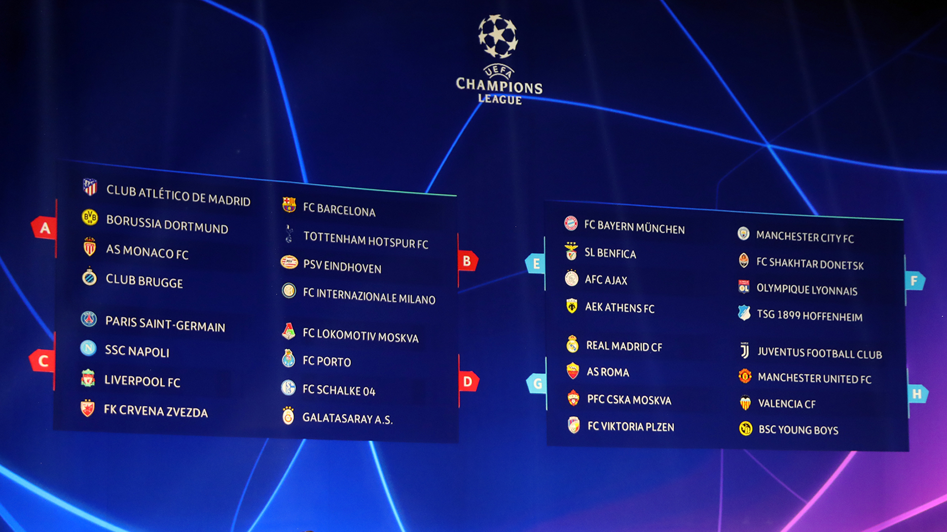 Champions League draw 2018-19