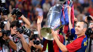 Andres Iniesta FC Barcelona Champions League