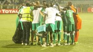 Gor Mahia players after holding Rayon Sports.