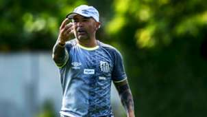 Jorge Sampaoli treino Santos 2019