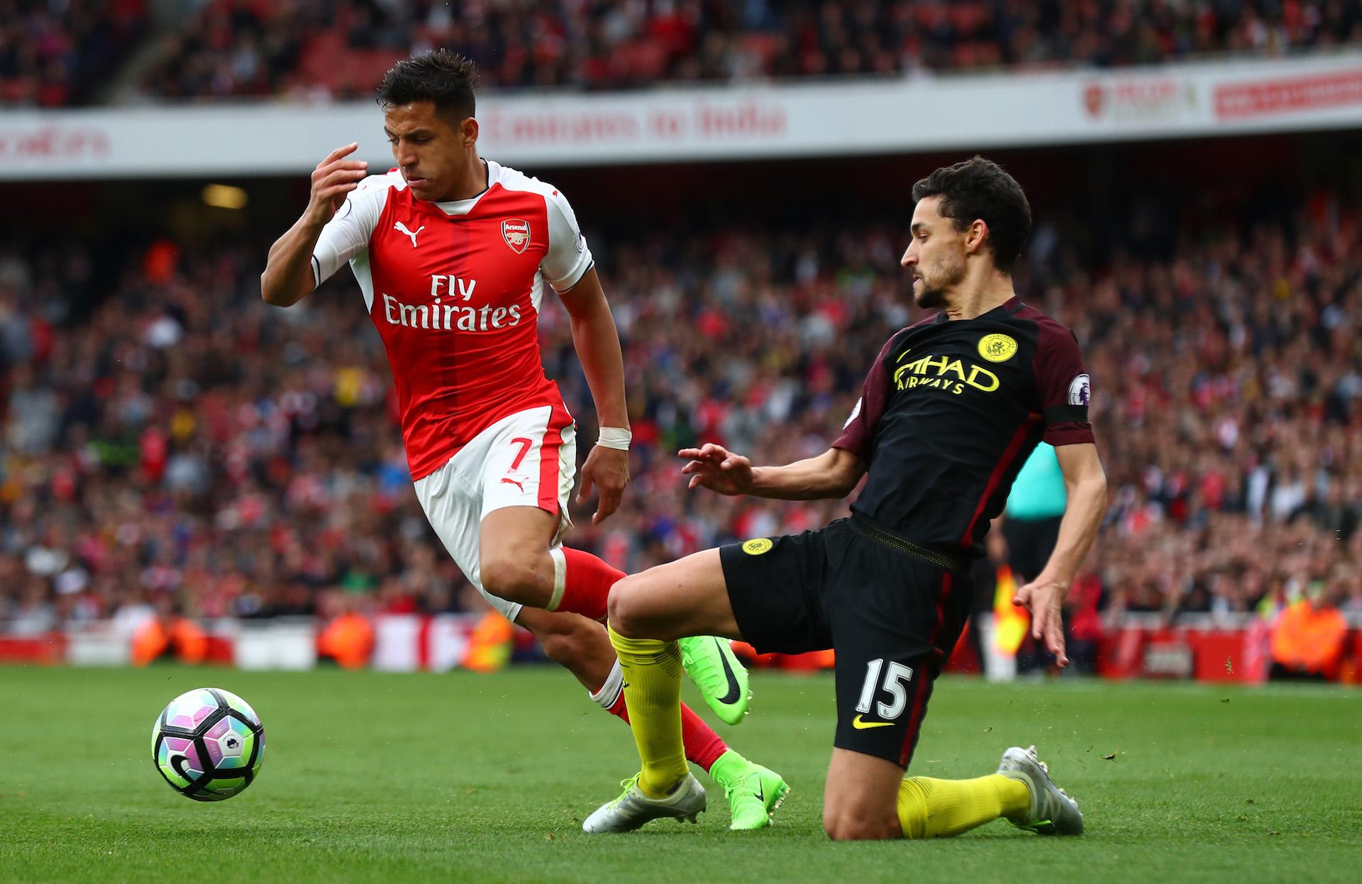 Jeus Navas Alexis Sanchez Manchester City Arsenal