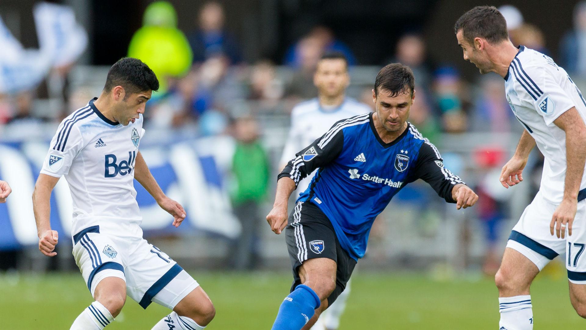 Chris Wondolowski Andrew Jacobson San Jose Earthquakes Vancouver Whitecaps MLS