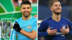 Sergio Aguero Eden Hazard Manchester City Chelsea Carabao Cup