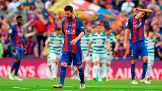 Lionel Messi Barcelona Eibar Malaga Real Madrid LaLiga 21052017