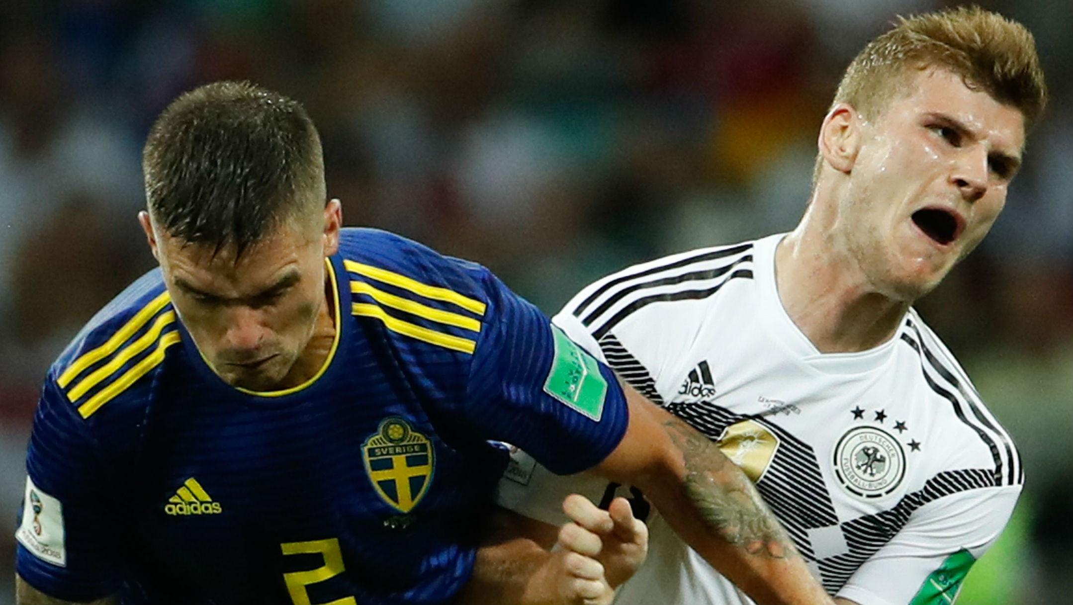 Sweden Mikael Lustig Germany Timo Werner World Cup