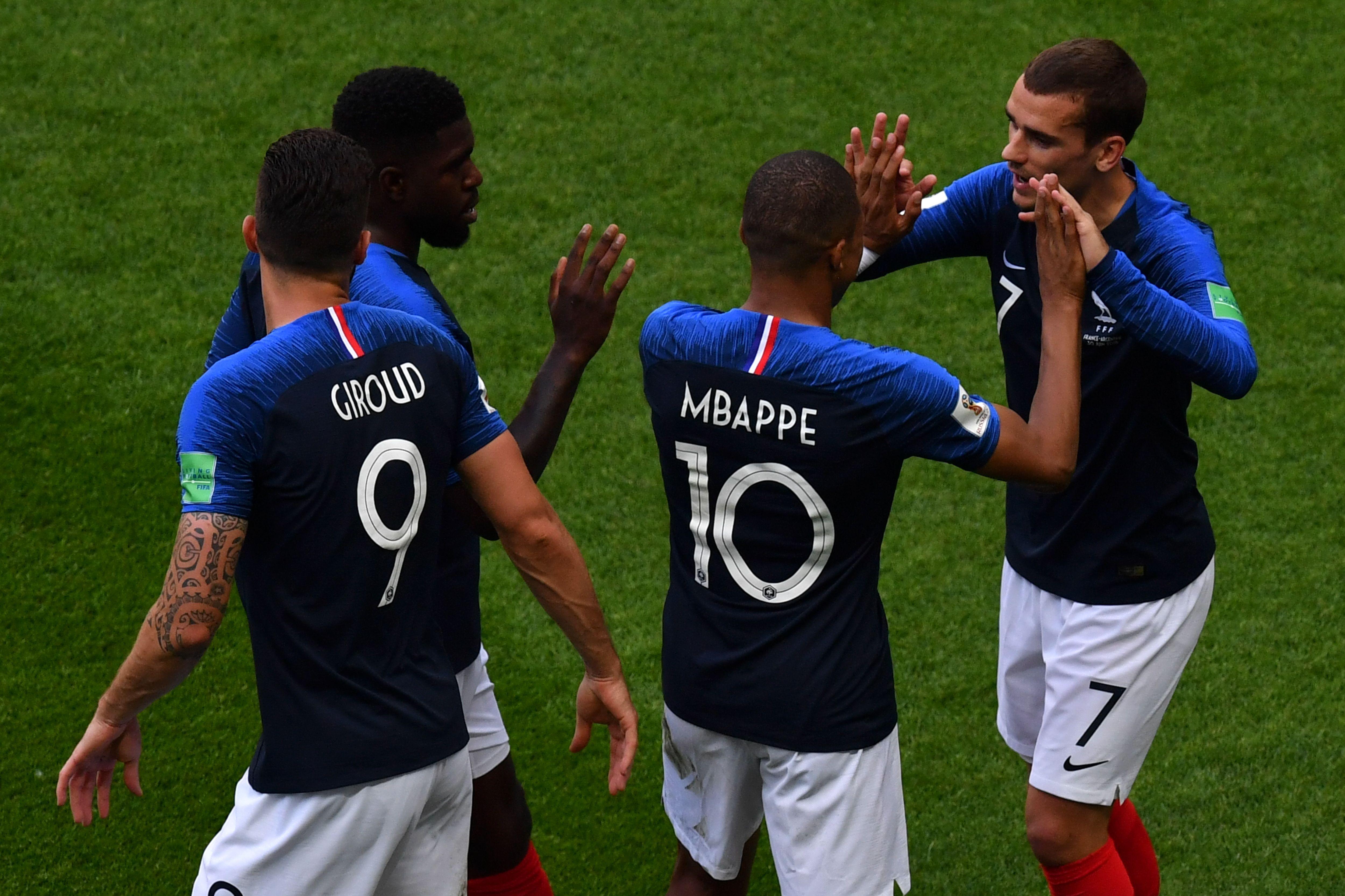 France Argentina Mbappe Griezmann