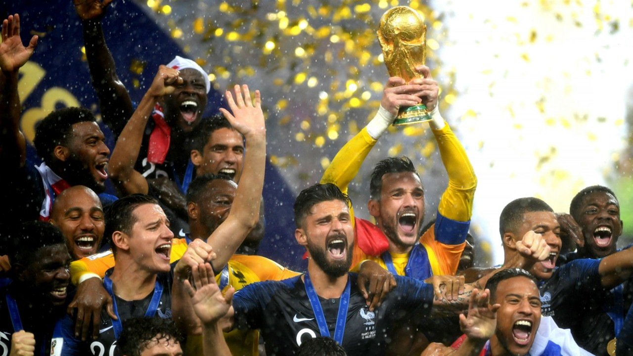 Image result for fifa world cup 2018 france celebrate