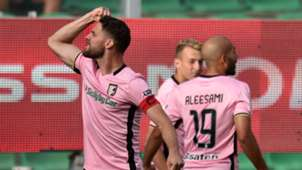Palermo players celebrating Palermo Venezia Serie B