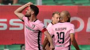 Palermo players celebrating Palermo Venezia Serie B