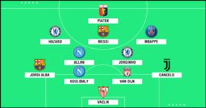 European Team of the Season so far