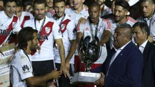 River Plate players Claudio Tapia Boca Juniors Supercopa Argentina