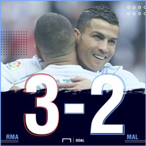 Real Madrid Malaga score