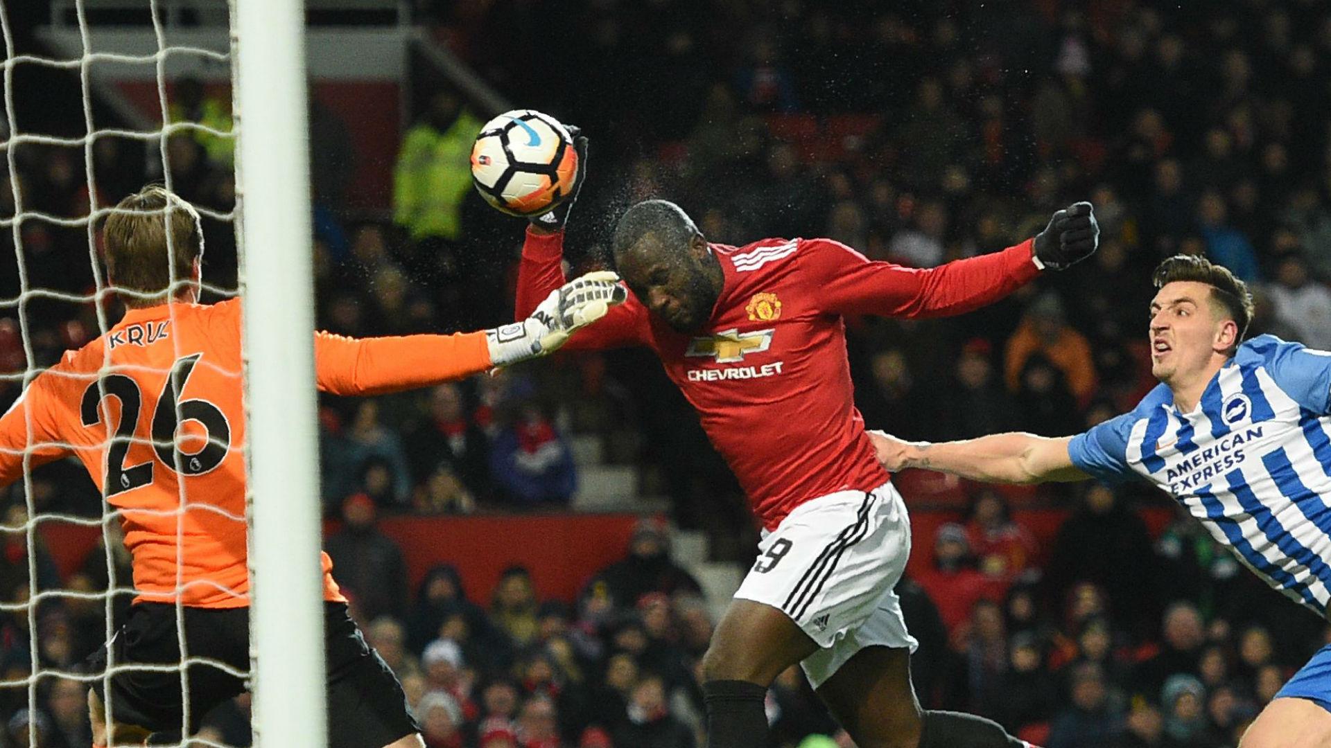 Romelu Lukaku Manchester United Brighton