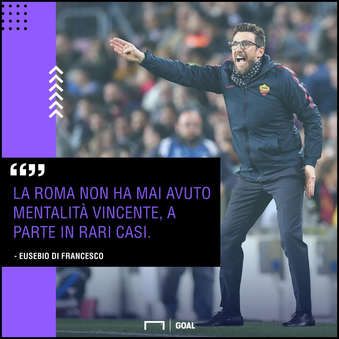 Roma-Fiorentina, Di Francesco:
