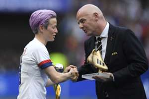 'What are we going to do about it?' - Rapinoe tells FIFA president Infantino she wants action on equal pay