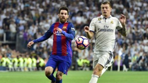 Real Madrid FC Barcelona Toni Kroos Lionel Messi 23042017
