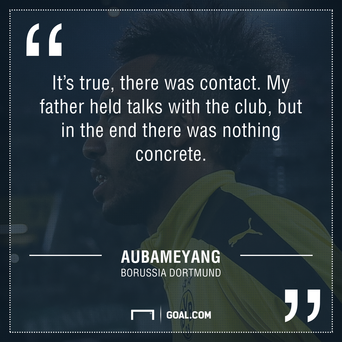 Aubameyang quote