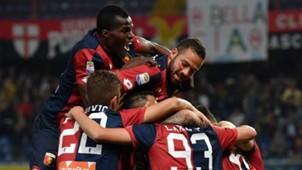 Genoa celebrating Genoa Verona Serie A