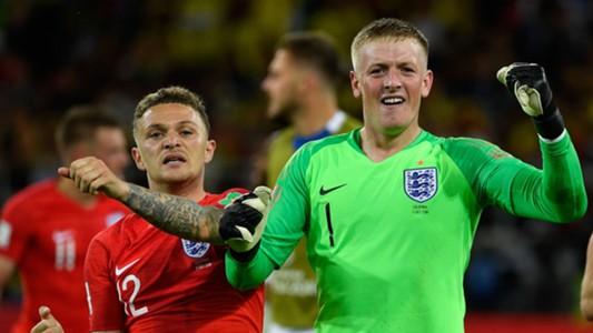 Jordan Pickford Kieran Trippier England Colombia World Cup 2018 030718