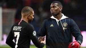 Kylian Mbappe Paul Pogba PSG Manchester United 2018-19