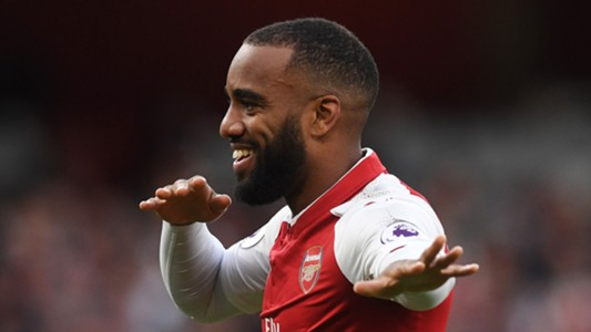 Alexandre Lacazette Arsenal Leicester City Premier League