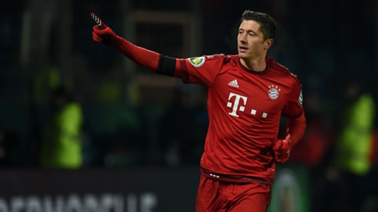 Robert Lewandowski Bayern DFB Pokal 16/17