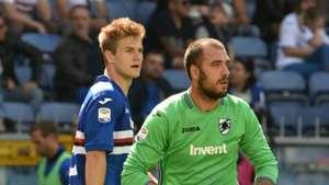 Joachim Andersen, Emiliano Viviano, Sampdoria, Serie A, 29042018