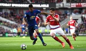 Marcus Rashford Manchester United Bernardo Middlesbrough