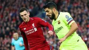 Andrew Robertson Luis Suarez Liverpool Barcelona 2018-19