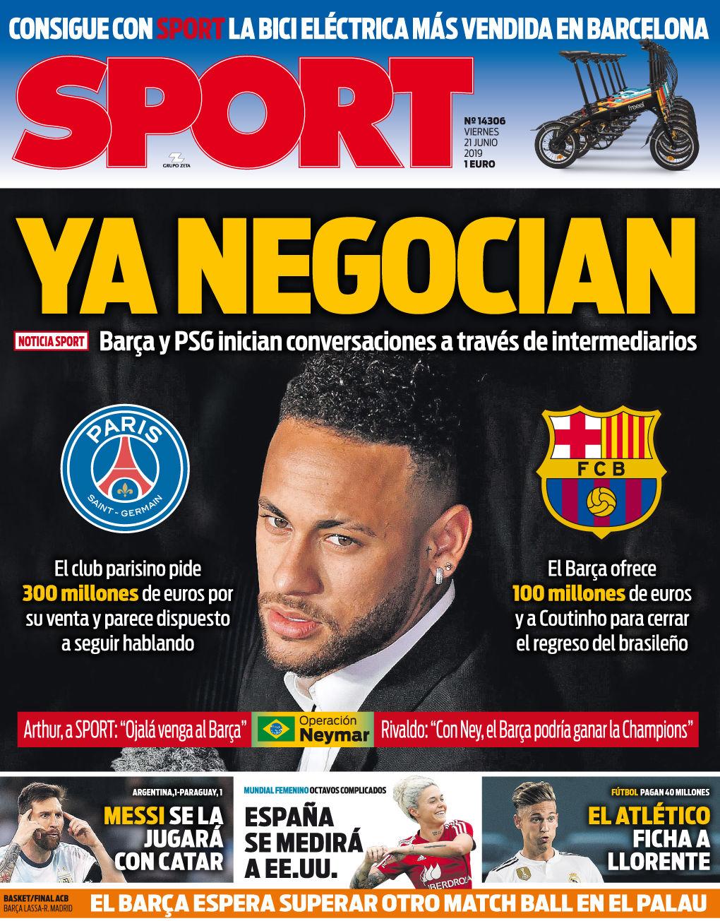 Cavani su Neymar: