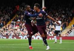 Alexandre Lacazette Aubameyang Fulham Arsenal Premier League 07102018