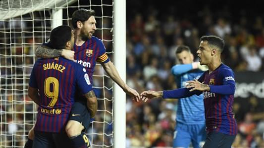 Lionel Messi Luis Suarez Philippe Coutinho FC Barcelona FC Valencia 07102018