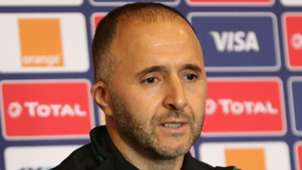 Djamel Belmadi head coach of Algeria.